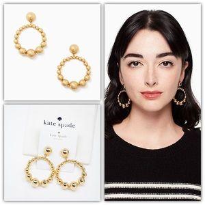 Kate Spade light up the room hoop earrings